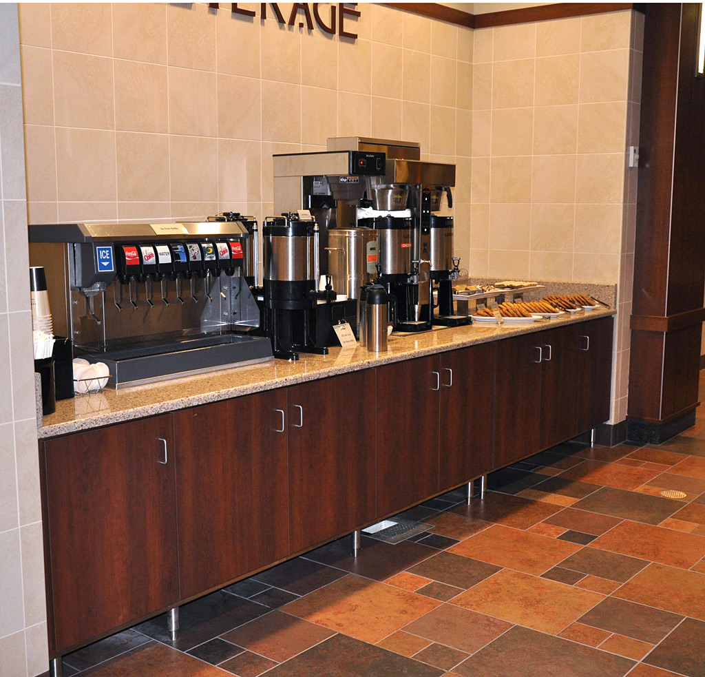 Corporate Cafeteria Restaurant Furniture, Buffet Steam Table Tops: Felling Products