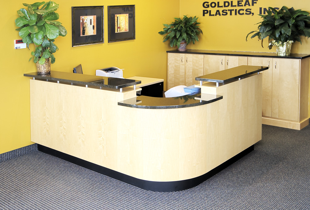 Reception Desk Lobby Desk Reception Counter Front Desk Table: Felling