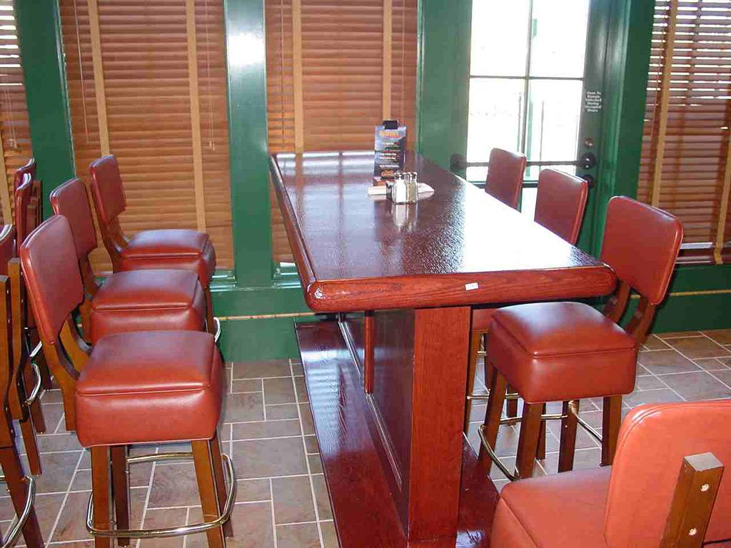 Bar booths tables restaraunt both topss cafe