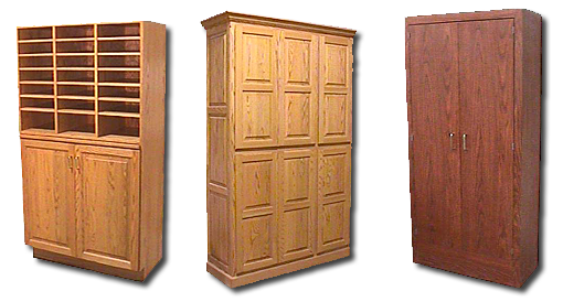 Mailbox and Tall Storage Cabinets
