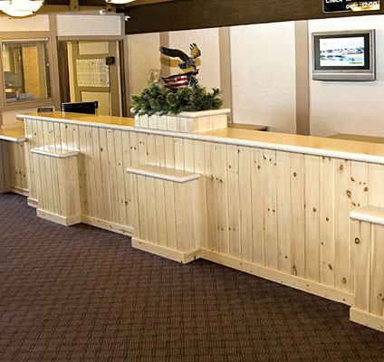 Reception Desk Lobby Desk Reception Counter Front Desk Table: Felling  Products