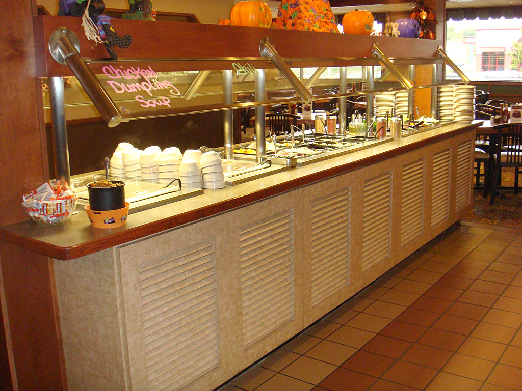 Corporate Cafeteria Restaurant Furniture Buffet Steam